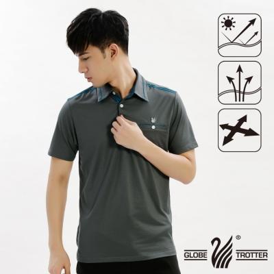 【遊遍天下】男款抗UV吸濕排汗機能POLO衫GS10019深灰