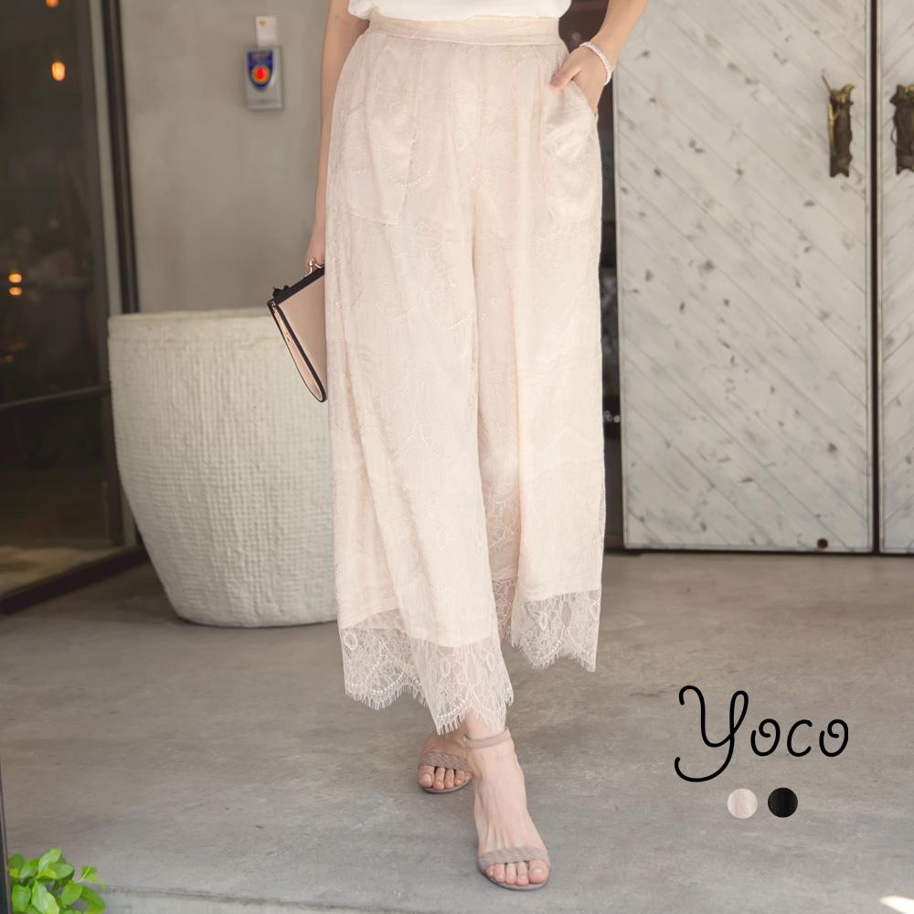 東京著衣-yoco 浪漫女神蕾絲寬管褲-S.M.L(共二色)