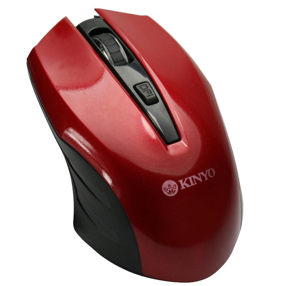 KINYO 2.4GHz靜音無線滑鼠GKM532