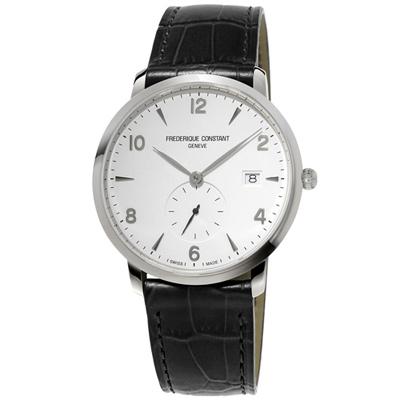 康斯登 CONSTANT SLIMLINE超薄系列紳士腕錶-黑/38.4