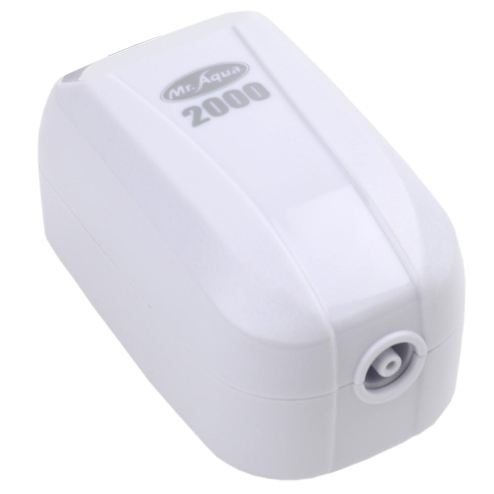 《Mr.Aqua》單孔2000型密閉式節能省電靜音打氣馬達(送矽膠軟管)