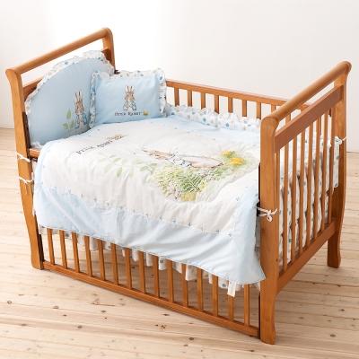 奇哥 比得兔大床 花園比得兔六件床組L-藍色