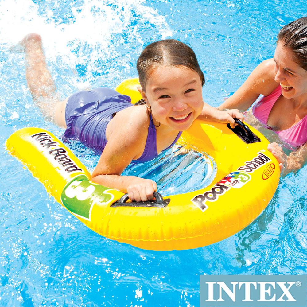 INTEX游泳學校POOL SCHOOL-STEP 3充氣浮排 適用3歲+ (58167)