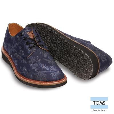 TOMS 紳士緹花牛津鞋-男款