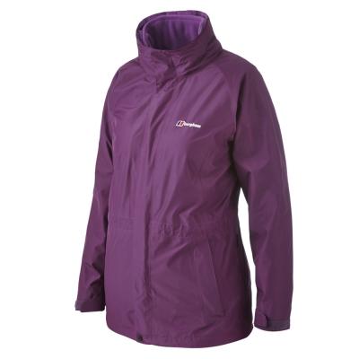 【Berghaus貝豪斯】女款GT兩件式防水刷毛外套H22F11-紫