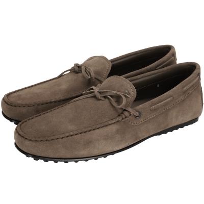TOD'S Gommino 麂皮經典休閒鞋(咖棕色/男款)