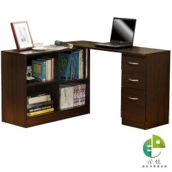 澄境 經典居家百變L型伸縮收納書桌櫃(寬120-190x深40)-DIY