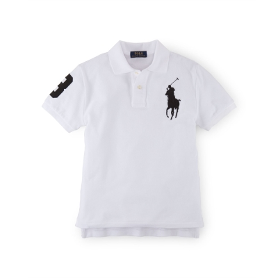 Ralph Lauren 短袖 小孩 POLO 素面 白色 336