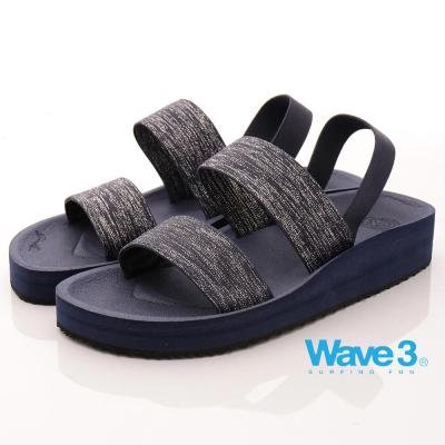 【WAVE3】台灣製金蔥厚底涼鞋-藍(17206303