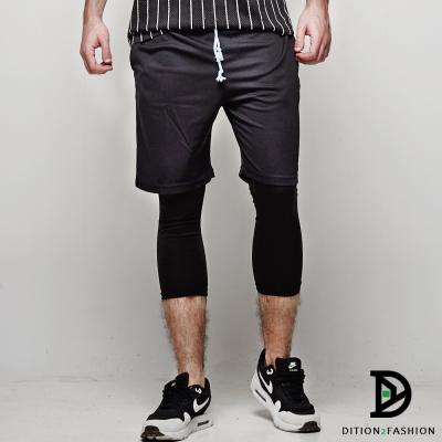 DITION 機能鬆緊腰排汗運動短褲 速乾網眼 籃球褲 健身