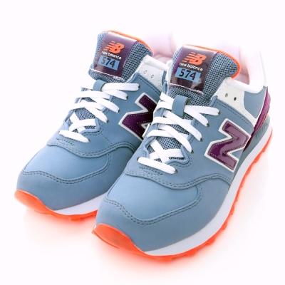 NewBalance-574系列女休閒鞋-粉紫
