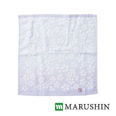 日本丸真今治櫻花方巾-紫
