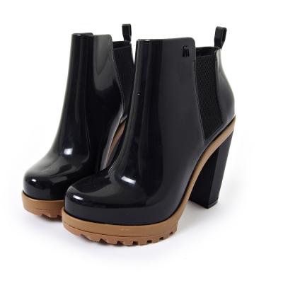 MELISSA 帥氣粗跟軍靴-黑色
