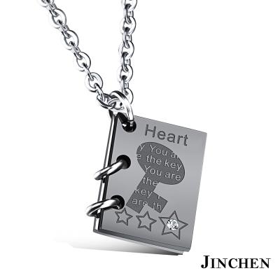 JINCHEN 鎖頭鑰匙 情侶項鍊