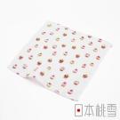 日本桃雪紗布方巾-夢幻下午茶(杯子蛋糕)