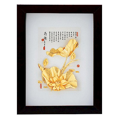 My Gifts-立體金箔畫-荷香蓮花(古香系列22.7x17.6cm)