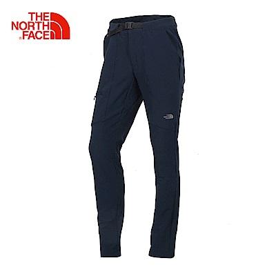 The North Face北面女款藍色防水透氣防風褲