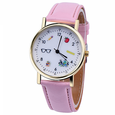 Watch-123 小孩對話-時尚隨行遊戲化童趣手錶-粉紅色/36mm