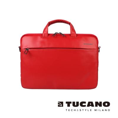 TUCANO Fina Premium MacBook 13吋義大利真皮側背包-紅
