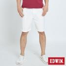 EDWIN 迦績褲JERSEYS涼感短褲-男-白色