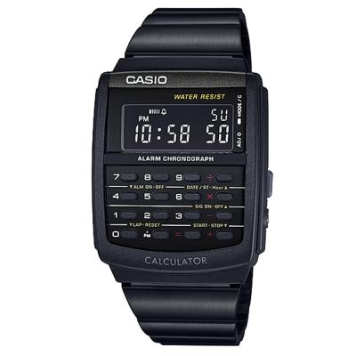 CASIO 潮流時尚經典復古8位元計算商務錶(CA-506B-1)黑/34.8mm