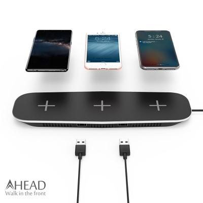 AHEAD領導者 QI無線充電板/3充+USB充電/2埠 三充板 充電器