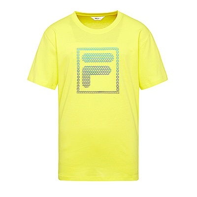 FILA 男款短袖圓領T恤-黃 1TES-1512-YE