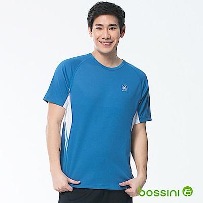 bossini男裝-速乾短袖圓領上衣05海藍