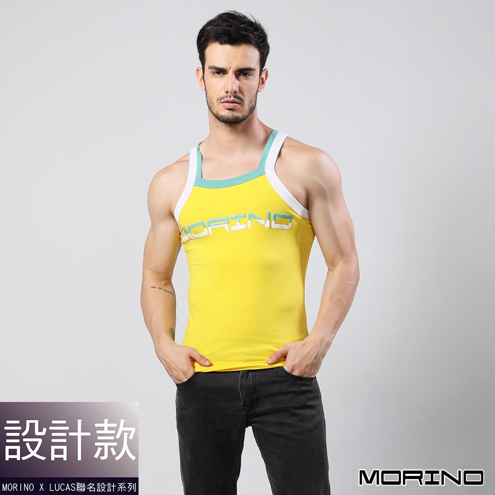 男內衣 設計師聯名-型男運動背心 黃色 MORINOxLUCAS