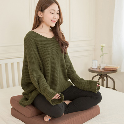 【凱蕾絲帝】台灣製造 記憶支撐禮佛拜墊~特級禪坐墊(深咖啡)