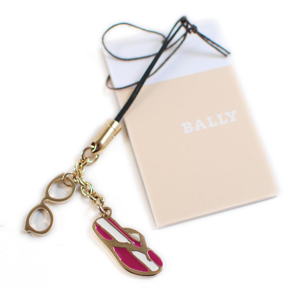 BALLY 眼鏡拖鞋造型手機吊飾