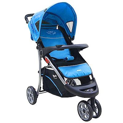 EMC 歐式豪華三輪嬰兒推車(天空藍)附蚊帳雨罩