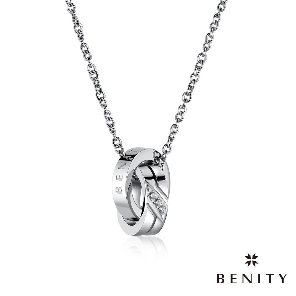 BENITY 塞納河香頌 316L醫療白鋼/西德鋼 情侶款 女項鍊
