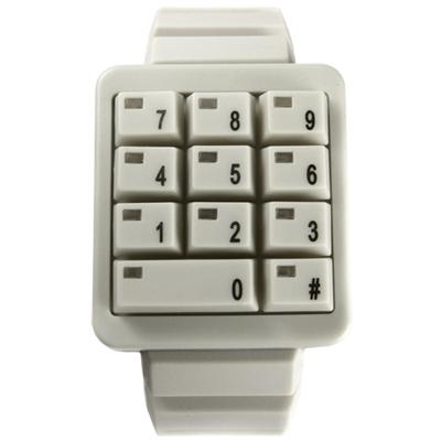 CLICK 創意爆破數字鍵盤個性腕錶-米白/40mm