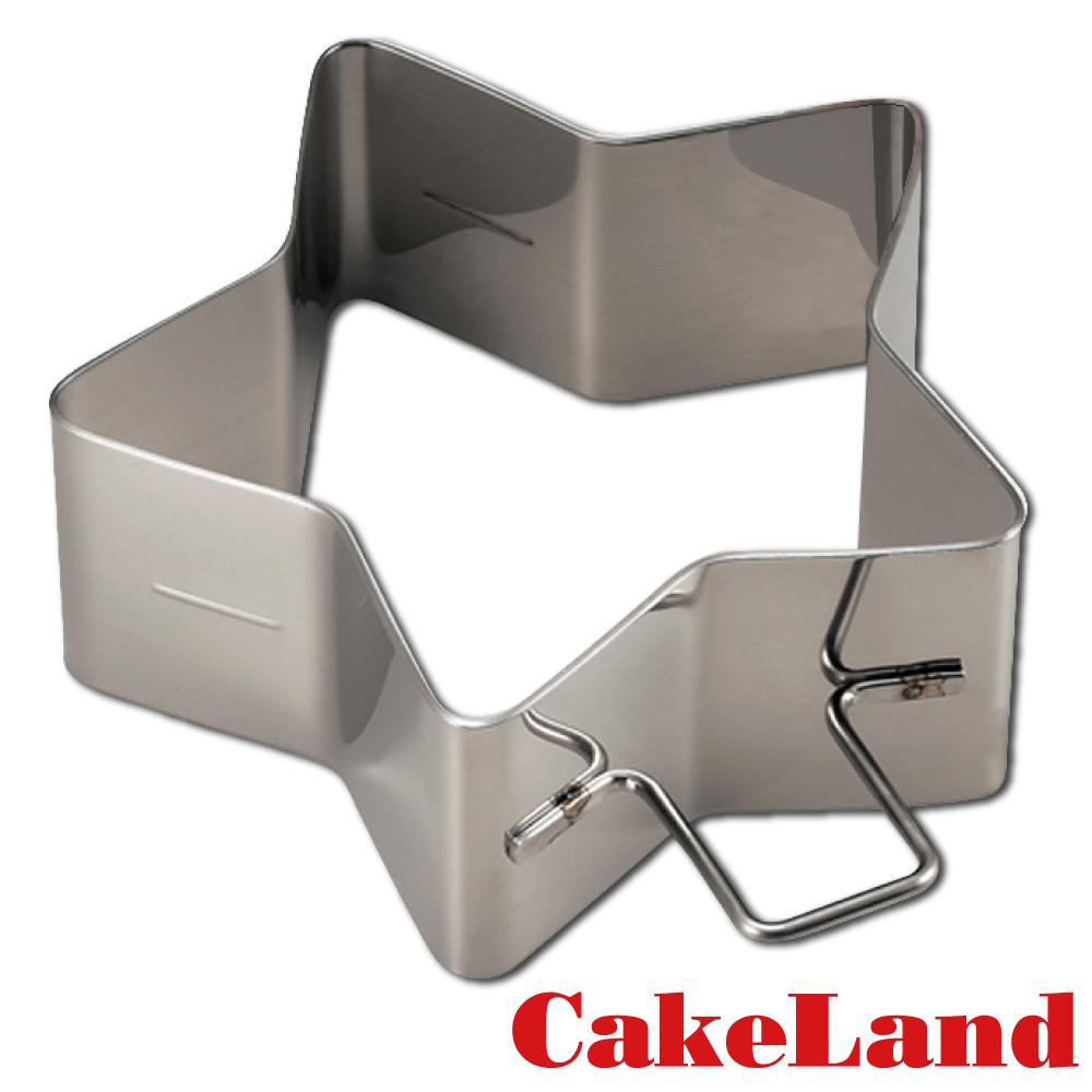 日本CakeLand 麵包蛋糕不鏽鋼深型煎烤模-星型(日本製)