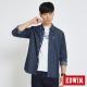 EDWIN 貼袋基本休閒襯衫-男-拔洗藍 product thumbnail 1