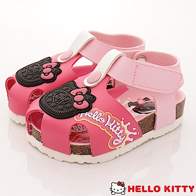HelloKitty童鞋 餅乾造型護趾涼鞋款 EI18139桃(小童段)