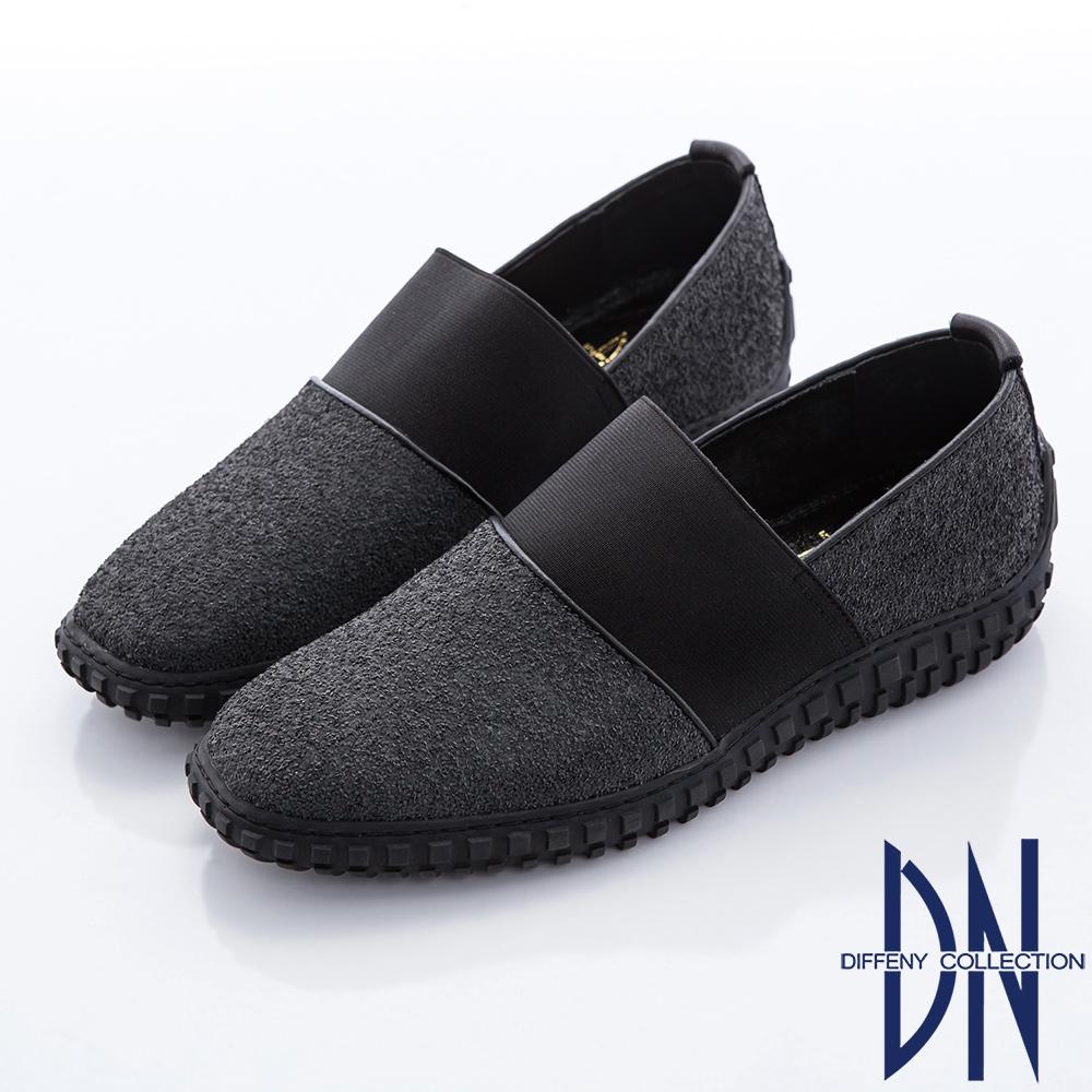 DN 街頭風潮 牛皮Mix異材質拼接舒適休閒鞋-灰