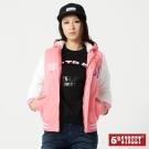 5th STREET 拼色棒球連帽外套-女-珊瑚紅