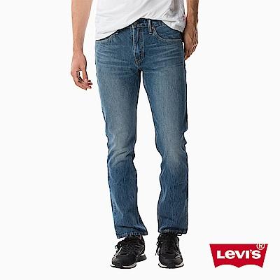 牛仔褲 男款 502 中腰錐形褲 湛藍刷白 - Levis