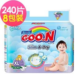 GOO.N 日本大王紙尿褲-國際版小包裝XL(30片X8串/箱)