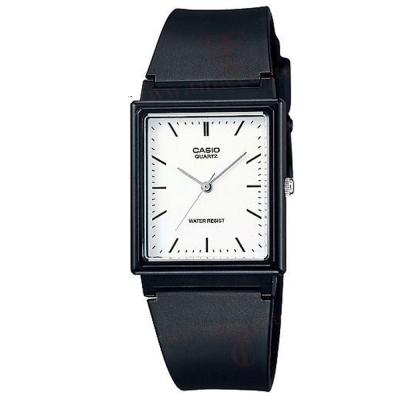 CASIO 方形超輕薄感數字錶(MQ-27-7E)-白色釘字面