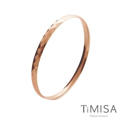 TiMISA《格緻真愛-細版 (玫瑰金)》純鈦手環