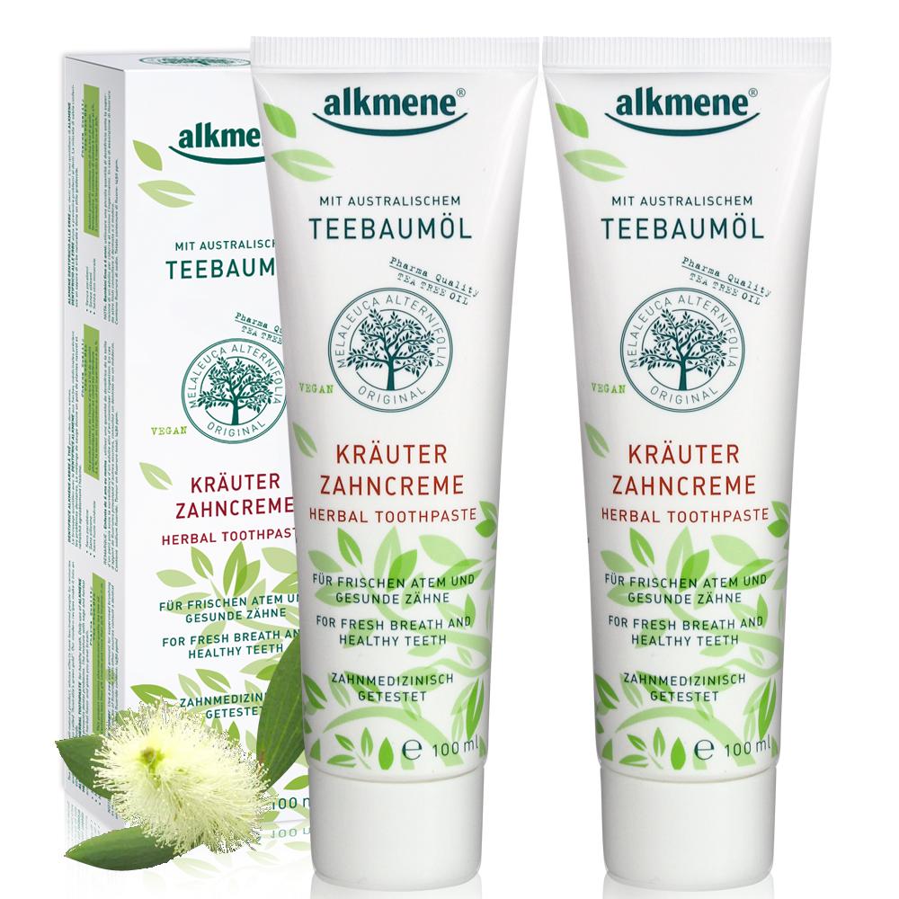 德國alkmene 茶樹精油抗菌牙膏100ml超值二入