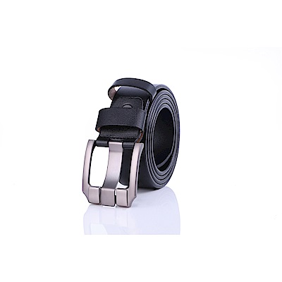 ZK2009BK英倫復古高質感穿針式牛皮腰帶皮帶(腰圍在22-42吋內適用)