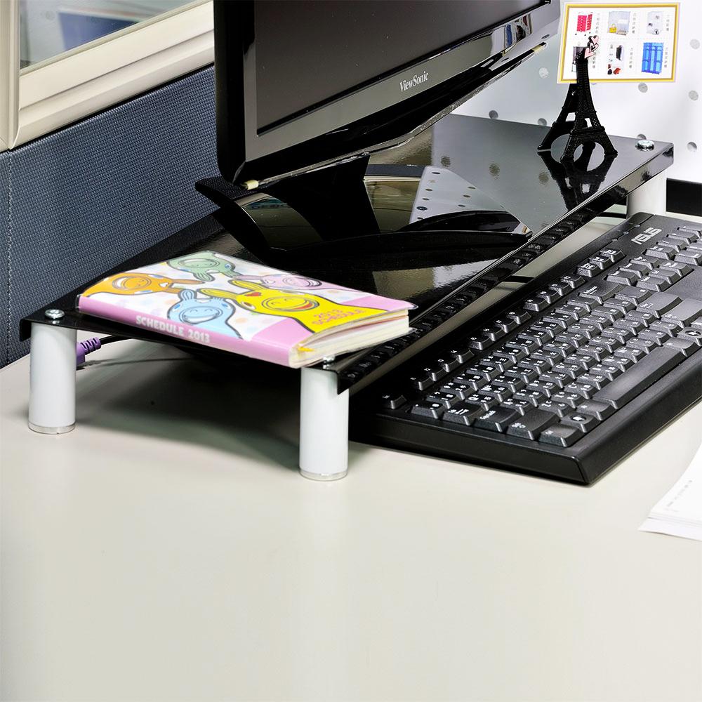 IKLOO宜酷屋 省空間桌上螢幕架/鍵盤架3入