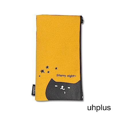 uhplus 手機袋-喵?日常 看星星(黃)