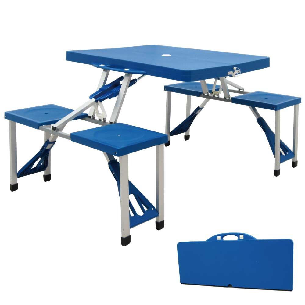 UMO 可攜式戶外休閒桌椅 /收納方便不占空間 /一桌四椅
