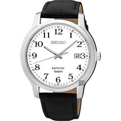 SEIKO精工 CS系列城市戀人皮帶腕錶(SGEH69P1)-白/41mm