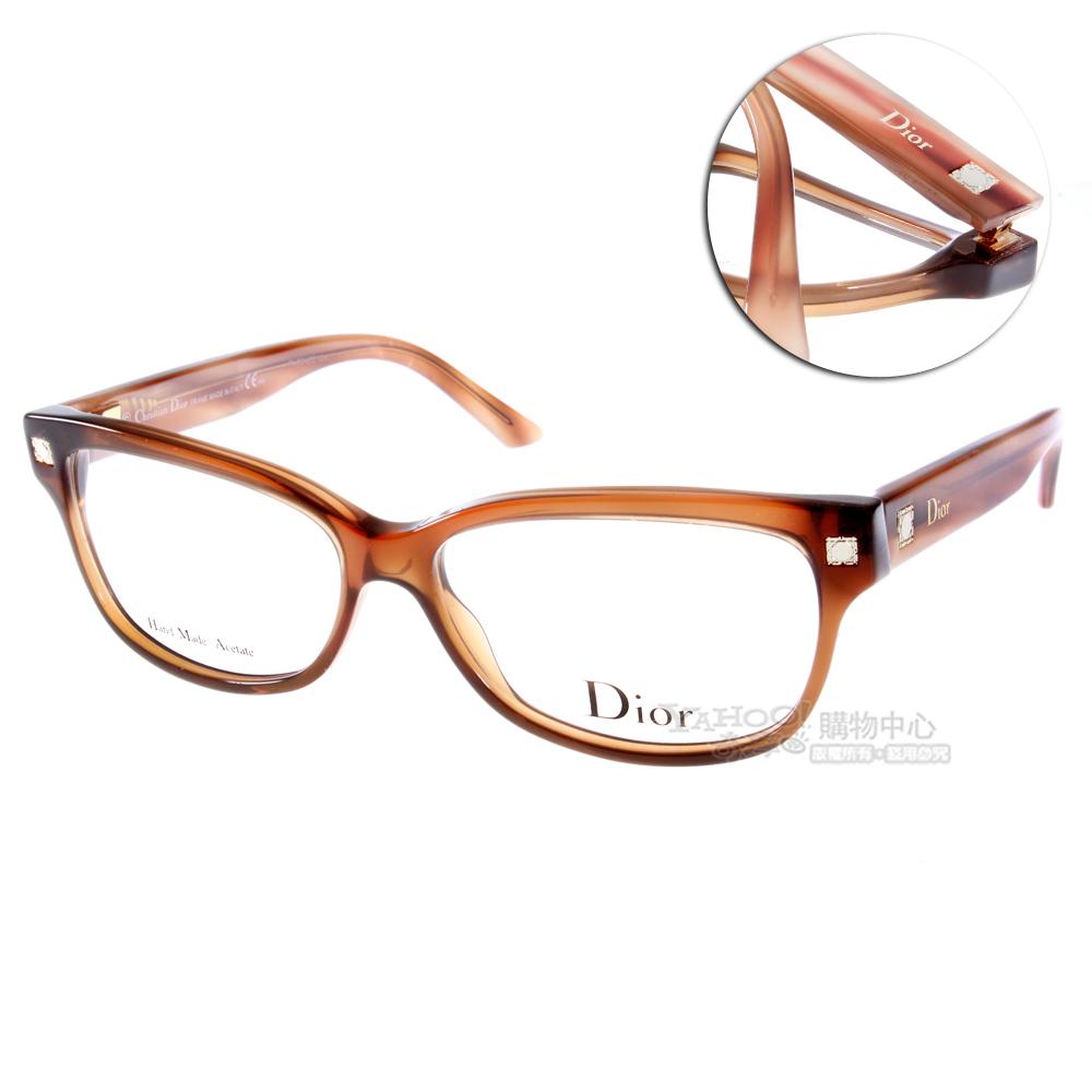 DIOR眼鏡 歐系小貓眼/咖啡#CD3179 HK2
